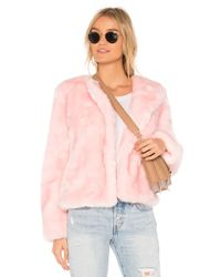 MILLY フェイクファージャケット Pink