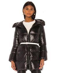 Add Black Hooded Down Jacket
