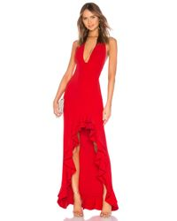 Lovers + Friends Red Fama Gown