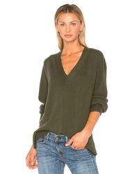 Rag & Bone Green V-neck Knit