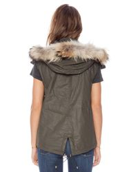 Sam. New Madison Vest With Natural Asiatic Raccoon Fur
