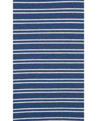 LNA - Blue Ashley Jane Cold Shoulder Stripe Top - Lyst