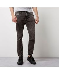 River Island - Gray Grey Wash Ryan Jogger Jeans for Men - Lyst
