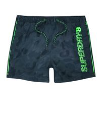 Superdry Blue Camo Swim Shorts for men