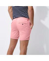 River Island Pink Slim Fit Turn Up Shorts for men