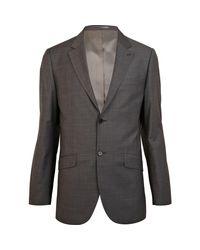 River Island Gray Classic Fit Smart Suit Jacket for men