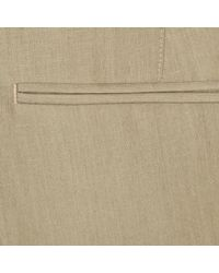River Island - Natural Stone Linen Slim Suit Pants for Men - Lyst