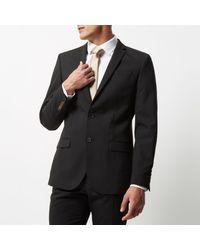 River Island - Black Slim Fit Suit Jacket for Men - Lyst