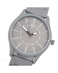 River Island Gray Grey Aesthetic Dial Watch for men