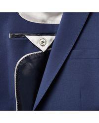 River Island - Black Navy Skinny Travel Suit Jacket for Men - Lyst