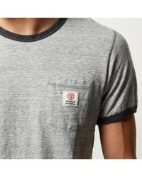River Island - Gray Grey Franklin & Marshall Ringer T-shirt for Men - Lyst
