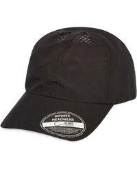 River Island - Black Perforated Cap for Men - Lyst