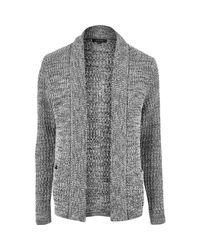 River Island | Gray Grey Soft Foldback Cardigan for Men | Lyst