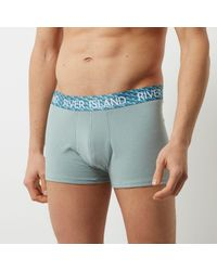 River Island Pink Geo Print Hipster Boxers Multipack for men