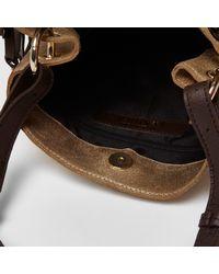 River Island Gold Metallic Leather Flower Cross Body Bag