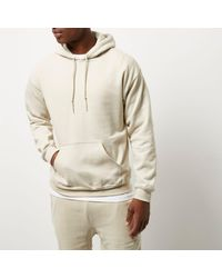 River Island Natural Stone Casual Hoodie for men