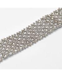 River Island - White Plus Silver Tone Diamante Choker - Lyst