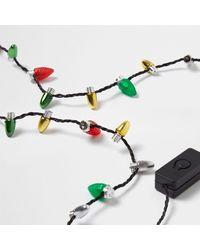 River Island - Multicolor Christmas Lights Necklace Christmas Lights Necklace - Lyst