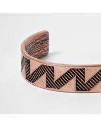 River Island | Multicolor Rose Gold Tone Aztec Cuff Bracelet | Lyst