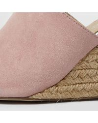 River Island - Pink Tie Up Espadrille Wedges - Lyst