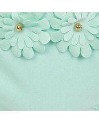 River Island Mint Green 3d Flower Bikini Bottoms