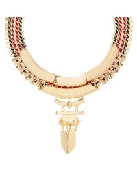 River Island - Metallic Gold Tone Statement Necklace - Lyst