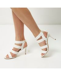 River Island White Strappy Heels