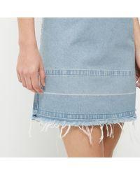 River Island Light Blue Wash Denim Shirt Dress