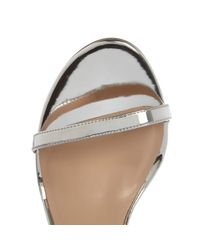 River Island Gray Silver Barely There Heel Sandals