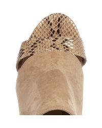 River Island Natural Nude Print Panel Wide Fit Shoe Boots