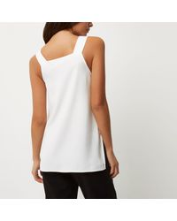 River Island White D-ring Strap Tunic