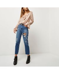River Island Pink Nude Frill Blouse