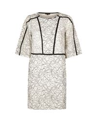 River Island | White Floral Lace Flared Sleeve Dress | Lyst