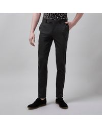 River Island Gray Flecked Skinny Suit Trousers for men