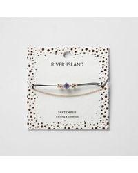 River Island - Blue September Birthstone Chain Bracelet - Lyst