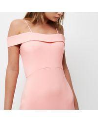 River Island | Orange Coral Bardot Maxi Dress | Lyst