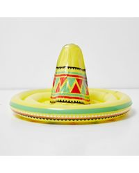 River Island - Yellow Giant Inflatable Sombrero - Lyst