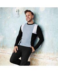 21228d3d4d1bab River Island Olly Murs Black Block Slim Fit Sweater in Black for Men ...