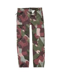 River Island | Multicolor Khaki Green Design Forum Camo Cargo Trousers for Men | Lyst