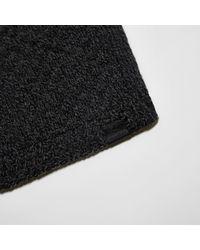 River Island Gray Dark Grey Textured Knit Scarf for men