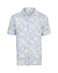Bellfield Light Blue Hawaii Shirt for men