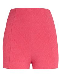 River Island Pink Textured High Waisted City Shorts