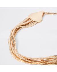 River Island - Metallic Tone Snake Chain Bracelet - Lyst