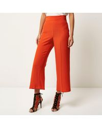 River Island Red Wide Trousers