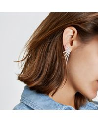 River Island - Metallic Silver Tone Diamante Cascade Stud Earrings - Lyst