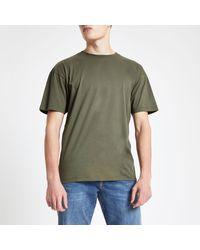 River Island Green Oversized Short Sleeve T-shirt for men