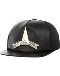 River Island Black Gem Stone Arrow Trucker Hat