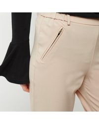 River Island Pink Zip Detail Trousers