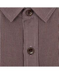 River Island Purple Mini Collar Military Shirt for men
