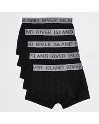 River Island Black Ri Hipster Boxers Multipack for men
